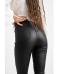 0784 Forest jeans черные брюки из экокожи женские на байке (6 ед.размеры: 25.26.27.28.29.30): артикул 1125098