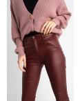 0101-3 XYH бордовые брюки из экокожи на байке (6 ед.размеры: 25.26.27.28.29.30): артикул 1125312