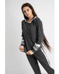 1611-1 M.K.Store темно-серый спортивный костюм женский (3 ед.размеры: универсал 44-48): артикул 1125244