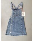 2956 Xray сарафан джинсовый на пуговицах синий весенний коттоновый  (34-40,евро, 6 ед.): артикул 1106936