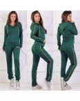 0020 зеленый женский спортивный костюм на змейке (42,42,44, 3 ед.): артикул 1106800