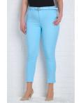 9785-I (GS9785I) Moon girl брюки женские батальные 7/8 голубые весенние стрейчевые (30-38, 6/12 ед.): артикул 1090760