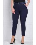 9781-R (GS9781R) Moon girl брюки женские батальные 7/8 темно-синие весенние стрейчевые (29-36, 12 ед.): артикул 1090764