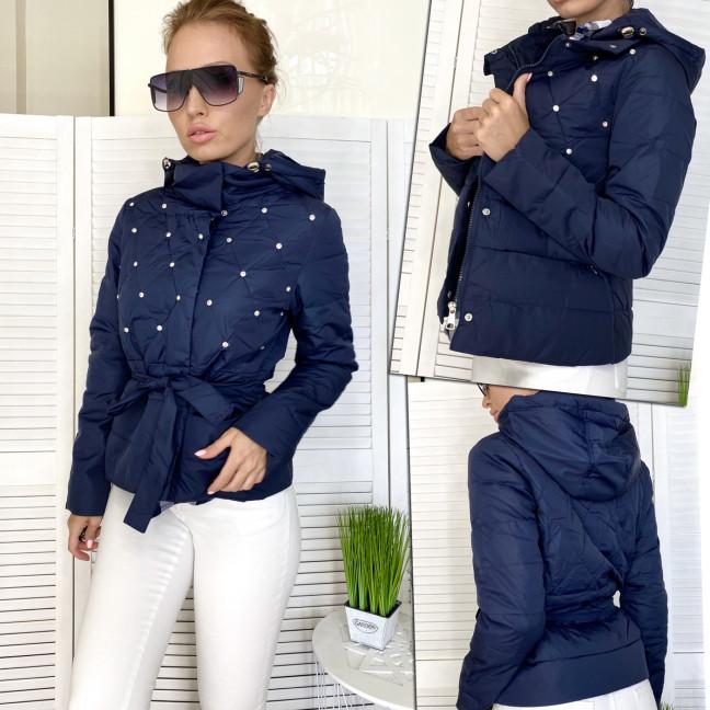 98501-3 темно-синяя RuYiXue куртка женская осенняя (М-2XL, 4 ед.) RuYiXue: артикул 1111495