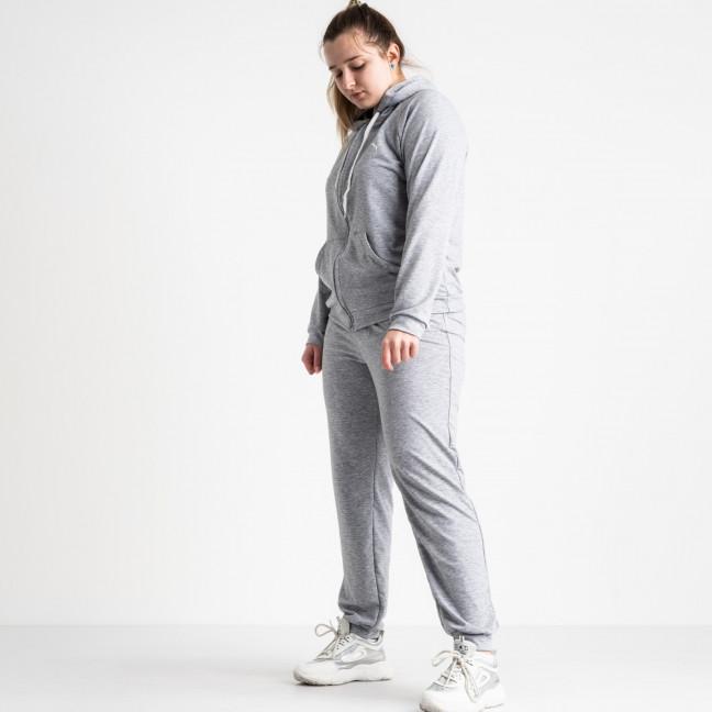 15111-2 серый женский спортивный костюм батальный из двунитки (4 ед. размеры: 50.52.54.56) Спортивный костюм: артикул 1117427
