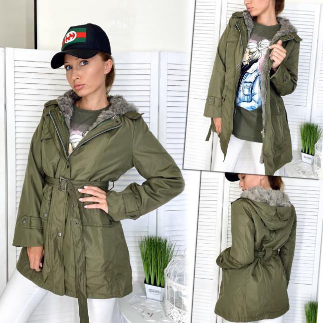 17382-01 куртка женская демисезонная хаки (S,S,M, 3 ед.) Куртка: артикул 1111396