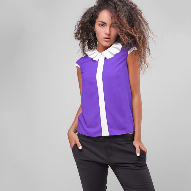 2711 блузка женская из креп-шифона (42-48, 4 ед.) Блузка: артикул 1108353