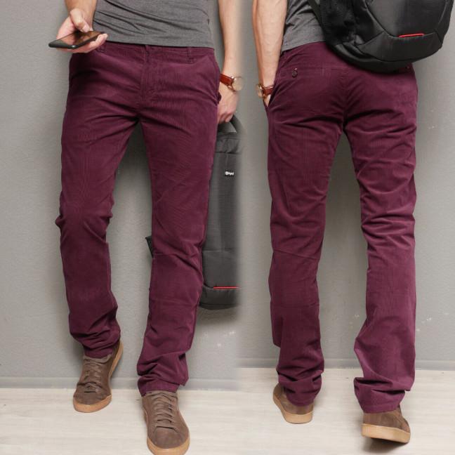 140011 LS брюки мужские молодежные вельветовые бордовые осенние стрейчевые (27-34, 8 ед.) LS: артикул 1112373