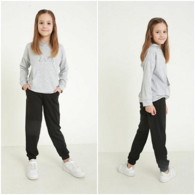 1290 серый спортивный костюм на девочку 6-11 лет (3 ед. размеры: M.XL.2XL) Спортивный костюм: артикул 1120973