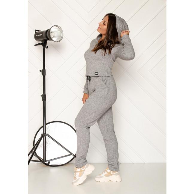 0545-2 серый спортивный костюм женский из двунитки ( 4 ед. размеры: 48.50.52.54) Спортивный костюм: артикул 1118844