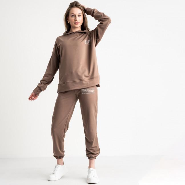 15115-3 Mishely мокко спортивный костюм женский из двунитки  (4 ед. размеры: S.M.L.XL) Mishely: артикул 1120993