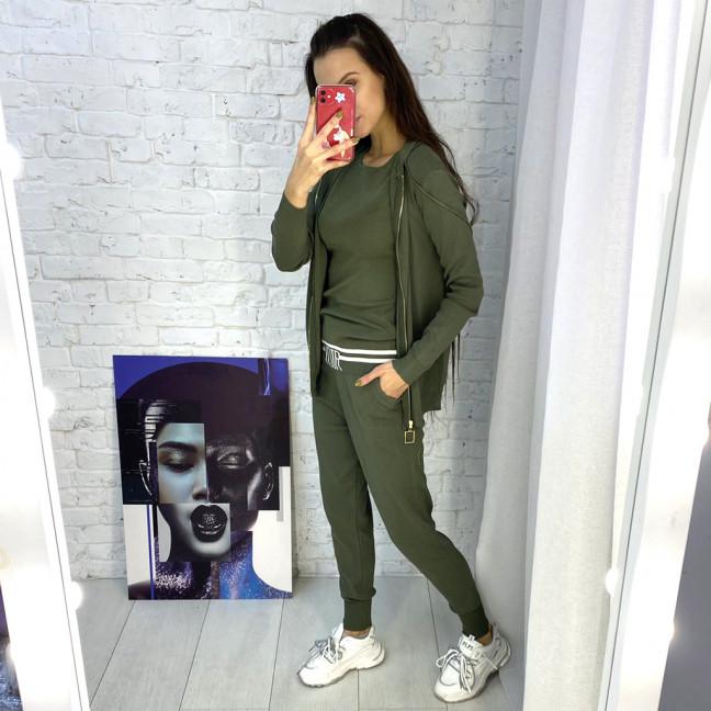 1712-1 M.K.Store зеленый спортивный костюм женский (3 ед.размеры: универсал 44-48) M.K.Store: артикул 1125359