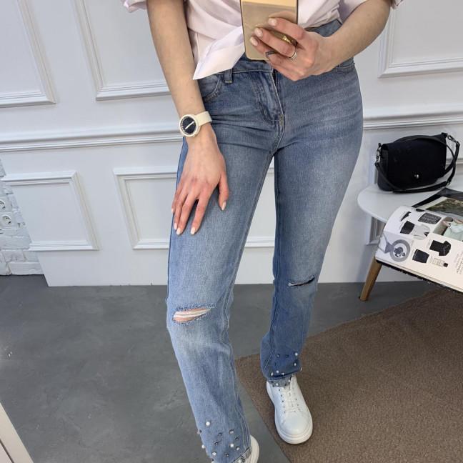 0059 Jushioumfiva джинсы женские голубые котоновые (6 ед. размеры: 25.26.27.28.29.30) Jushioumfiva: артикул 1119128