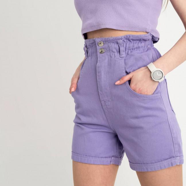 3377-1 шорты джинсовые сиреневые котоновые  ( 4 ед. размеры: 25.26/2.28 ) Шорты: артикул 1122843