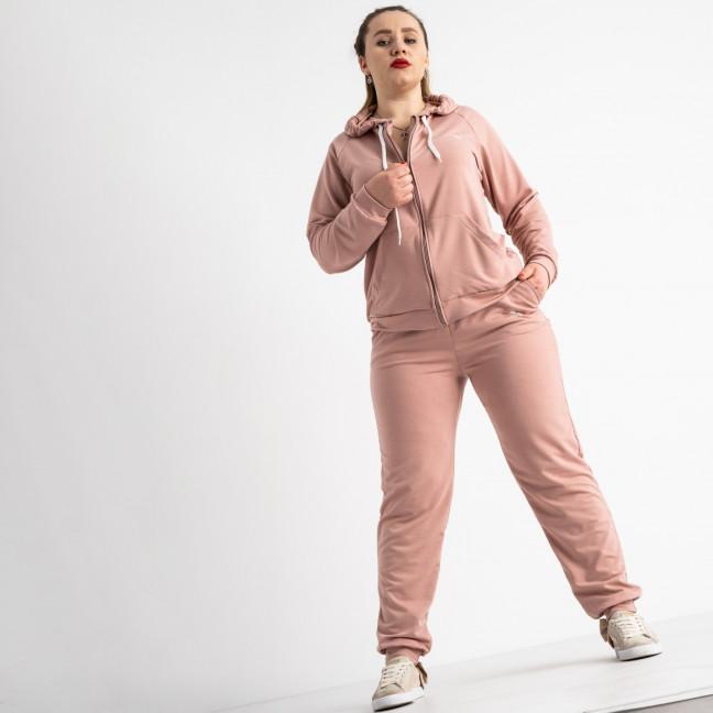 15111-4 пудра женский спортивный костюм батальный из двунитки (4 ед. размеры: 50.52.54.56) Спортивный костюм: артикул 1118244