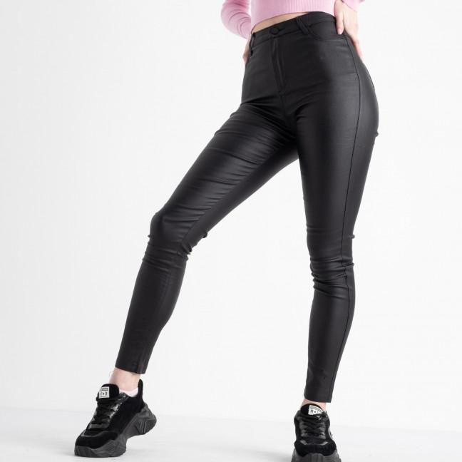 0003-1 M.S.Q черные брюки женские из экокожи (6 ед. размеры: 25.26.27.28.29.30) M.S.Q: артикул 1118009
