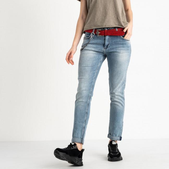 2229-B-703 A.N.G джинсы полубатальные женские голубые стрейчевые (6 ед. размеры: 28.29.30.31.32.33) A.N.G.: артикул 1118816