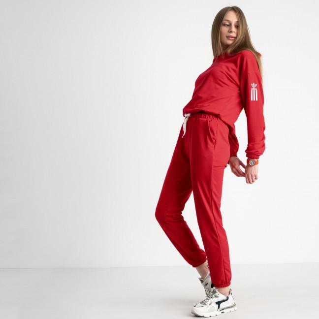 1523-10 Mishely красный женский спортивный костюм из двунитки (4 ед. размеры: S.M.L.XL) Mishely: артикул 1122180