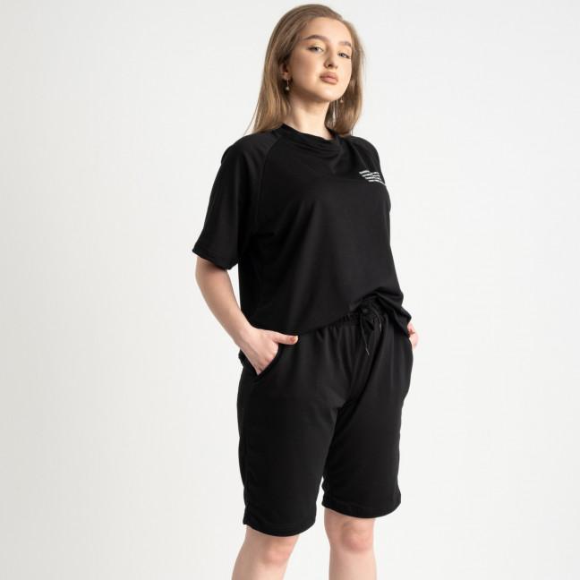 2215-1 Mishely черный женский спортивный костюм батальный из двунитки  (4 ед. размеры: 50.52.54.56) Mishely: артикул 1122656