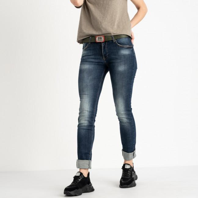 9095-B-520 Colibri джинсы полубатальные женские темно-синие стрейчевые (6 ед. размеры: 28.29.30.31.32.33) Colibri: артикул 1118808