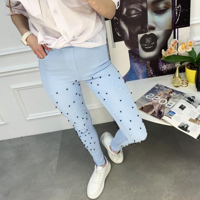 8056-8 Yimeite голубые брюки женские стрейчевые (6 ед. размеры: 25/2.26.27.28.29) Yimeite: артикул 1120756
