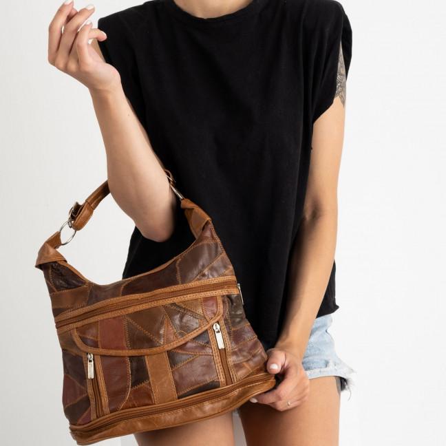 8818 коричневая сумка женская из экокожи (5 ед.) Сумка: артикул 1123343