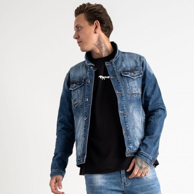 1001 Fang джинсовая куртка синяя стрейчевая (5 ед. размеры: L.XL.2XL.3XL.4XL) Fang: артикул 1118358