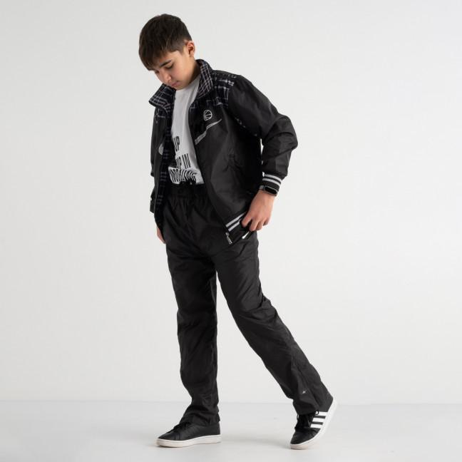 1003 спортивный костюм из плащевки подростковый на мальчика 8-13 лет (5 ед. размеры на бирке: M.L.XL.2XL.3XL) Спортивный костюм: артикул 1117749