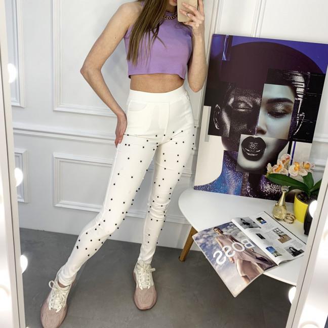 8056-11 Yimeite белые брюки женские стрейчевые (6 ед. размеры: 25/2.26.27.28.29) Yimeite: артикул 1120755