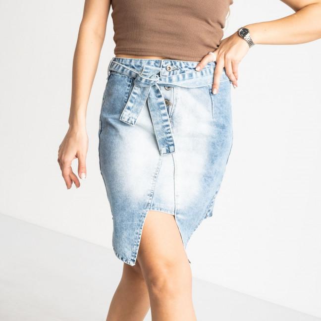 E 0056-2 ONDI юбка женская голубая котоновая (5 ед. размеры: 36.38/2.40.42) Ondi: артикул 1120079