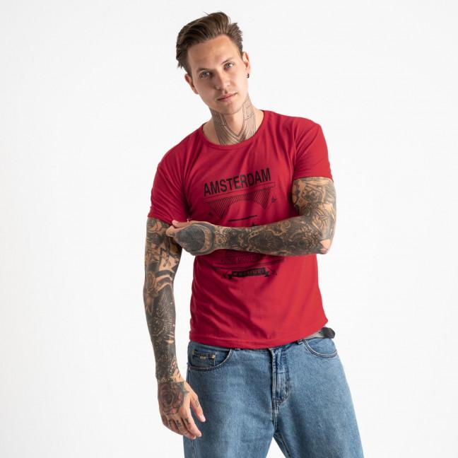 2604-3 красная футболка мужская с принтом (4 ед. размеры: M.L.XL.2XL) Футболка: артикул 1120915