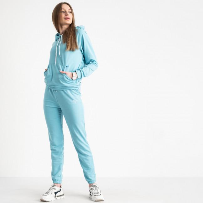 1467-20 небесный голубой женский спортивный костюм из двунитки (4 ед. размеры: S.M.L.XL) Спортивный костюм: артикул 1120160