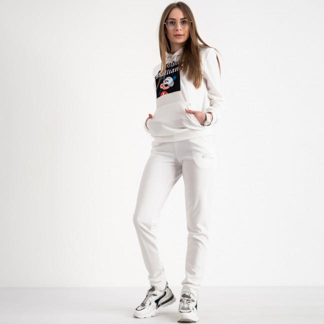 7625-1 белый женский спортивный костюм (5 ед. размеры: S.M.L.XL.2XL) Спортивный костюм: артикул 1119917