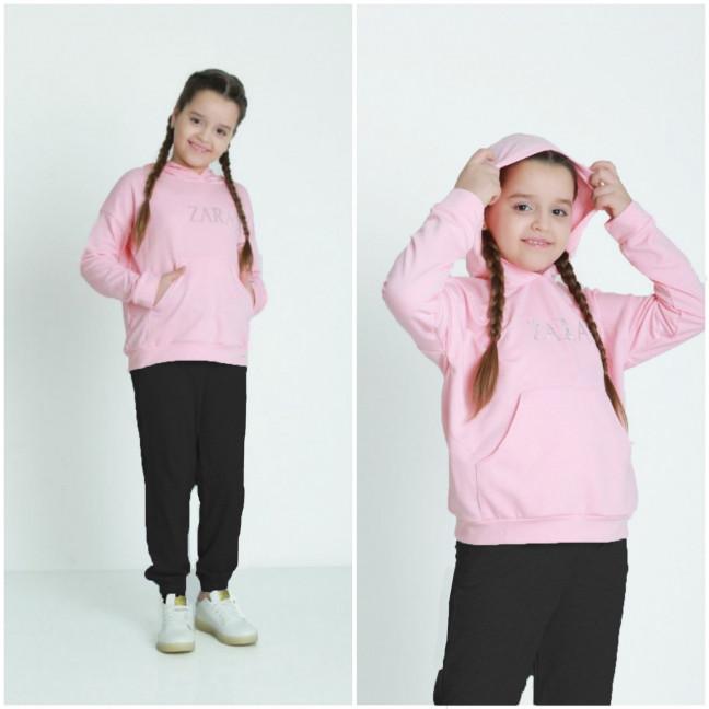 1290-2 розовый спортивный костюм на девочку 6-11 лет (3 ед. размеры: M.XL.2XL) Спортивный костюм: артикул 1120975
