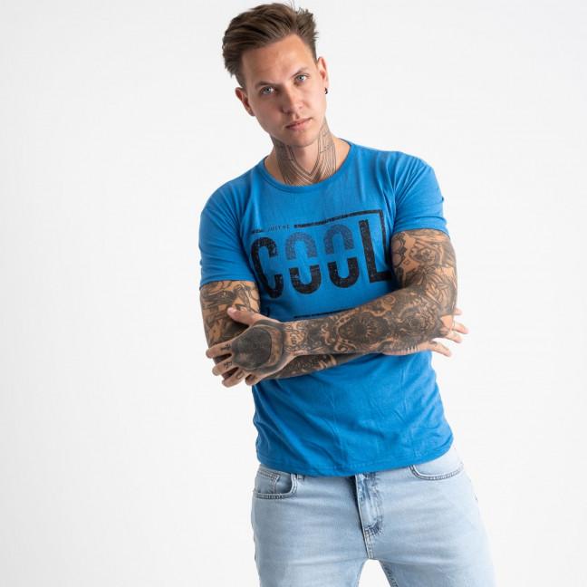 2623-12 голубая футболка мужская с принтом (4 ед. размеры: M.L.XL.2XL) Футболка: артикул 1121073