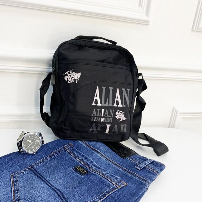 1108 черная сумка мужская наплечная (5 ед.) Сумка: артикул 1121379