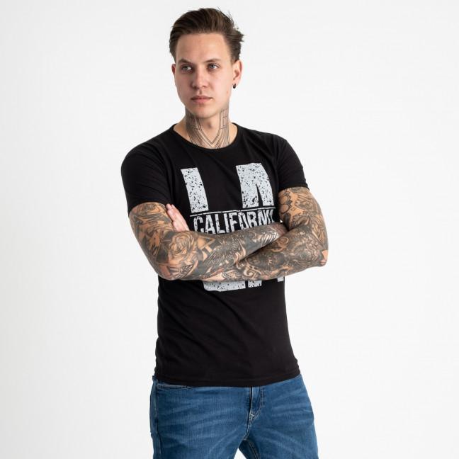 2712-1 черная футболка батальная мужская с принтом (4 ед. размеры: 2XL.3XL.4XL.5XL) Футболка: артикул 1119940