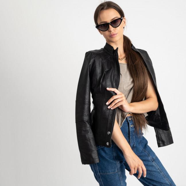 2007 куртка черная женская из кожзама (5 ед. размеры: S.M.L.XL.XXL)  Куртка: артикул 1123229