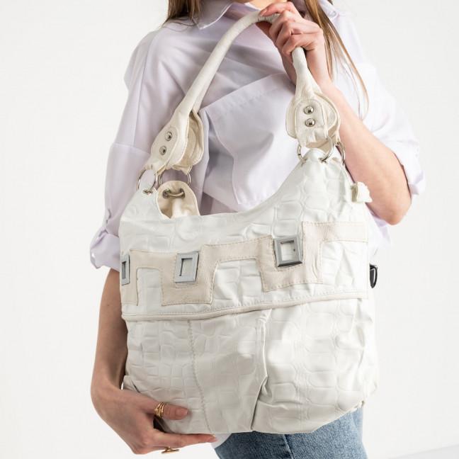 86126 сумка белая женская из экокожи (5 ед.) Сумка: артикул 1121318
