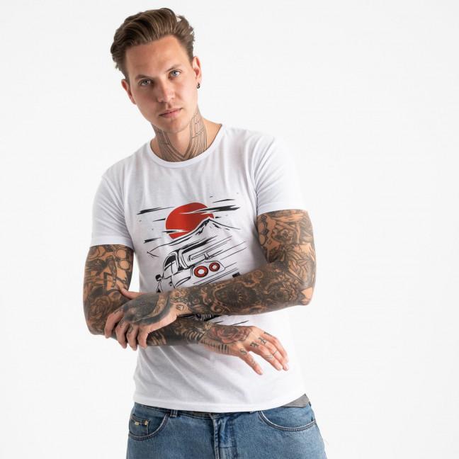 2610-10 футболка мужская с принтом (4 ед. размеры: M.L.XL.2XL) Футболка: артикул 1120952
