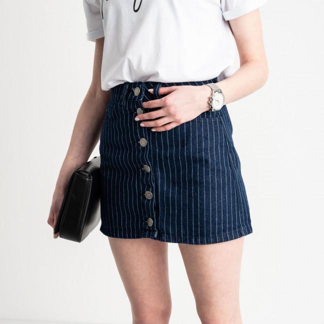0200-6 Defile юбка на пуговицах синяя котоновая (6 ед. размеры: 34.36.36.38.38.40) Defile: артикул 1119522
