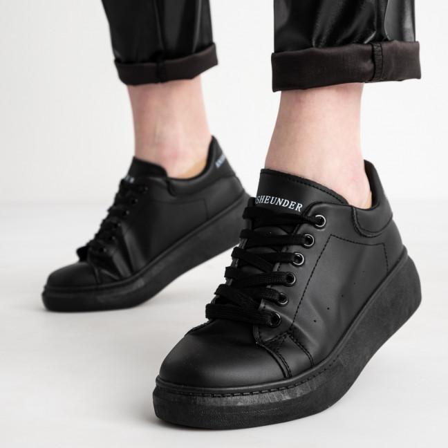 271020-101 черные кроссовки женские из экокожи (10 ед. размеры: 36.37.37.38.38.39.39.40.40.41) Кроссовки: артикул 1119473
