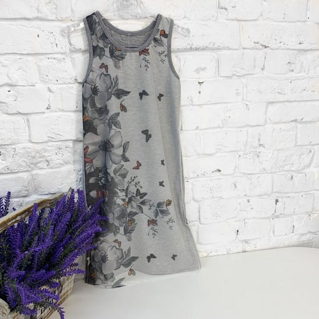 0659 платье серое с рисунком на девочку 4-6 лет (2 ед. размеры:104.116) Маленьке сонечко: артикул 1121507