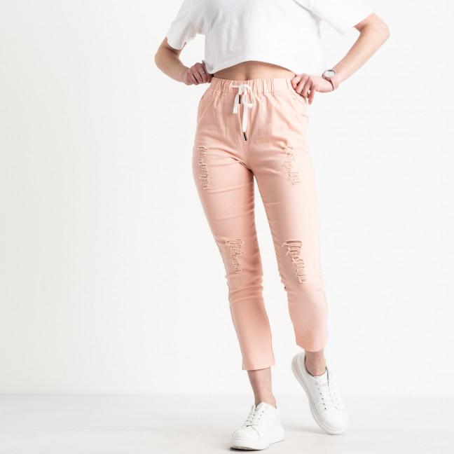 0205-3 Yimeite пудра брюки женские стрейчевые (6 ед. размеры: 25.26.27.28.29.30) Yimeite: артикул 1119610