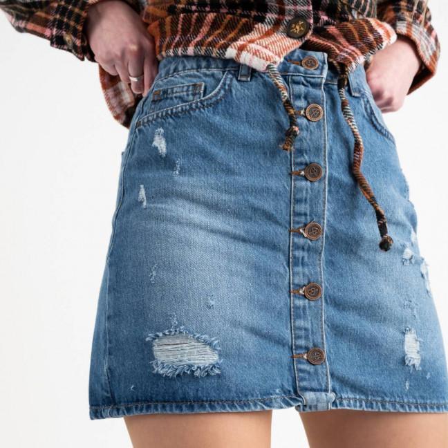 0022-124 юбка джинсовая синяя котоновая (6 ед. размеры: 34.36.38.38.40.42) Юбка: артикул 1118555