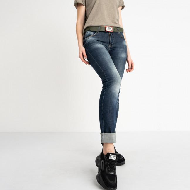 9095-B-5203 Colibri джинсы полубатальные женские темно-синие стрейчевые (7 ед. размеры: 28.29.30.31.32.33.33) Colibri: артикул 1118810