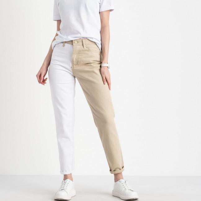 0426-1 Miss Aura мом двухцветный белый с бежевым котоновый  (8 ед. размеры: 34.36/2.38/2.40.42.44) Miss Aura: артикул 1121702