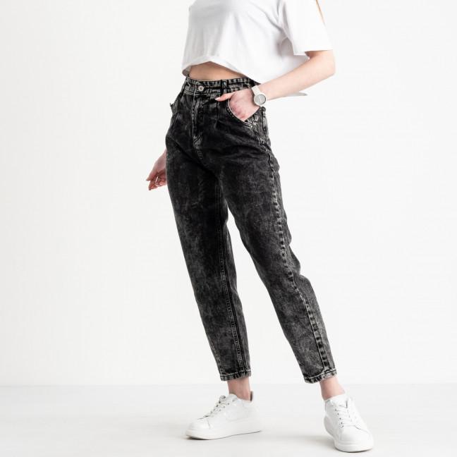 2117 MOM джинсы-балоны женские серые котоновые (8 ед. размеры: 25.26.26.28.28.30.30.32) MOM: артикул 1119562