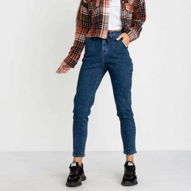 5021 New Jeans мом женский синий стрейчевый (6 ед. размеры: 25.26.27.28.29.30) New Jeans: артикул 1123624