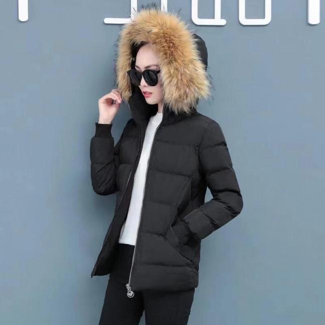 6937-1 куртка черная женская на синтепоне (6 ед. размеры: M.L.2XL/2.3XL.4XL) Куртка: артикул 1125588